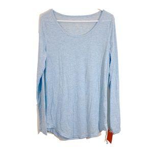 NWT Mossimo Light Blue & Silver Sparkle Top sz XXL